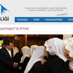Vali İzzettin Küçük'ten Saitabat'ta İftar